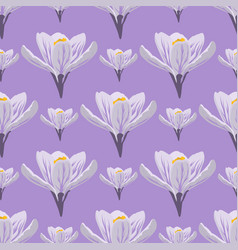 nature spring crocus flower wreath vector image