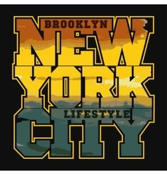 New York Sport T-shirt Design vector image