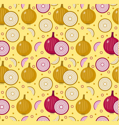 onions seamless pattern bulb onion endless vector image vector image