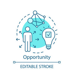 Opportunity turquoise concept icon career growth vector