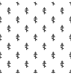 Orthodox cross pattern simple style vector