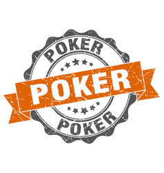 Poker stamp sign seal vector