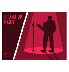 poster stand up night concept vector image