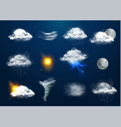 Realistic weather set vector