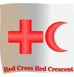 Red Cross Red Crescent vector image