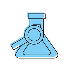 school chemistry flask and magnifier search find vector image