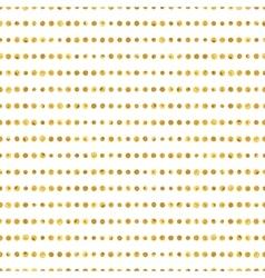 Seamless pattern of golden dots stripes vector