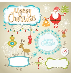 Set of Christmas and New Year elements vector