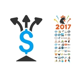 Share Money Icon With 2017 Year Bonus Symbols vector