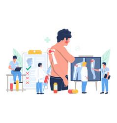 Shoulder arthritis osteoarthritis patient vector