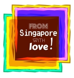 Singapore love vector image
