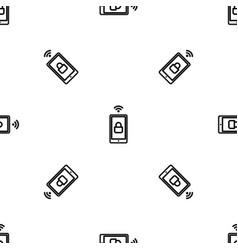 smartphone wireless lock pattern seamless vector image