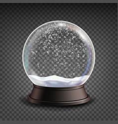 Snow globe realistic realisitc 3d snow vector
