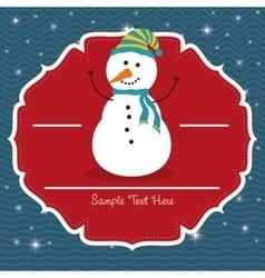 Snowman cartoon of chistmas design vector
