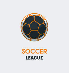 Soccer football logo template modern sport ball vector