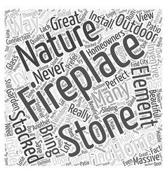 Stacked stone fireplace Word Cloud Concept vector