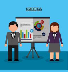 Statistics data business report vector