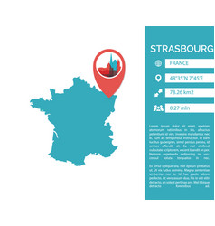 Strasbourg map infographic vector