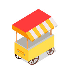 Streetfood trolley with tent isolated vector