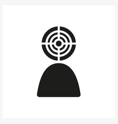 target head icon in simple black vector image