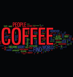 The ins and outs of coffee text background word vector