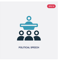 Two color political speech icon from political vector