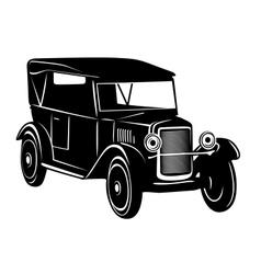 Vintage car 1920s years vector