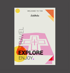 Welcome to the lalibela ethiopia explore travel vector
