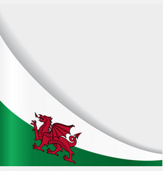 Welsh flag background vector