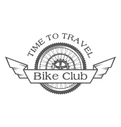 wheel emblem on topic bicycles vector image