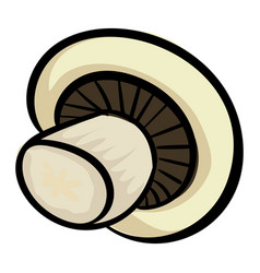 white mushroom icon cartoon style vector image