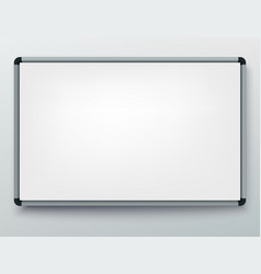 whiteboard for markers presentation empty vector image