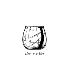 Wine tumbler glass vector