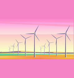with rotation windmills for vector image