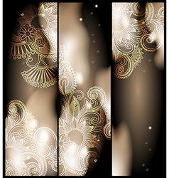 abstract banner with floral ornament vector image vector image