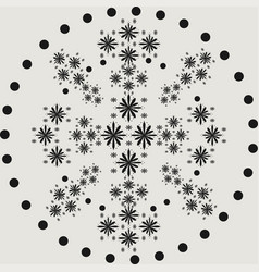 abstract dotted shape design element vector image