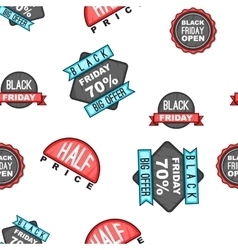 Black Friday sale tags pattern cartoon style vector image