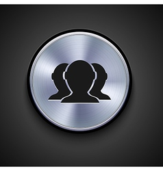 metal icon on gray background Eps10 vector image