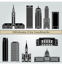 Oklahoma city landmarks and monuments vector image vector image