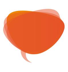 orange round chat bubble icon vector image