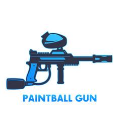 paintball gun on white vector image