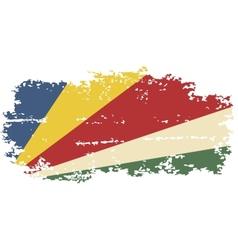 Seychelles grunge flag vector image vector image