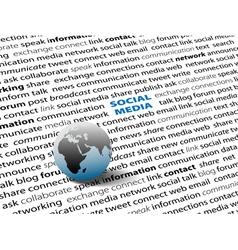 social media network vector image vector image