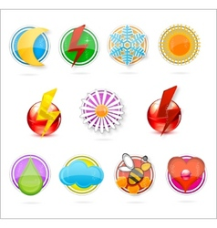 colored symbols set on the white vector image