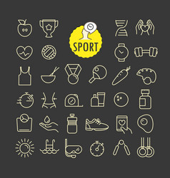 different sport icons collection web and mobile vector image vector image