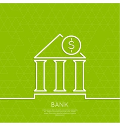Financial institution with a coin vector image vector image