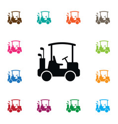 isolated buggy icon game element can be vector image vector image