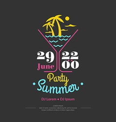 Summer perty vector image
