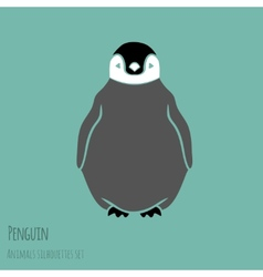 black and white penguin vector image