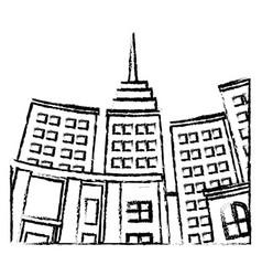 Building skyscraper city bottom view image vector